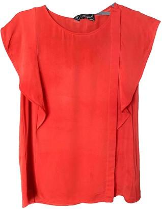 Salvatore Ferragamo Red Silk Tops