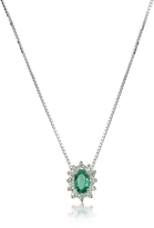 Tagliamonte Incanto Royale Diamond and Emerald Drop 18K Gold Necklace