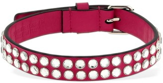 Moschino Leather Choker W/ Crystal Studs