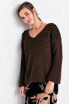 Ecote Marley Loop-Stitch V-Neck Sweater