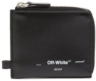Off-White Off White Logo-print Leather Chain Wallet - Mens - Black