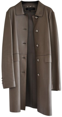Gucci Beige Leather Coat for Women