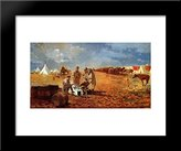 Art-Direct ArtDirect Rainy Day in Camp (also known as Camp near Yorktown) 20x24 Framed Art Print by Winslow Homer
