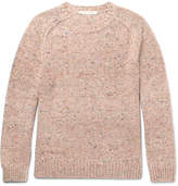 Marc Jacobs Olympia Mélange Virgin Wool And Cashmere-blend Sweater - Pink