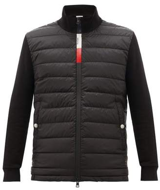 Moncler Quilted Zip-through Track Top - Mens - Black