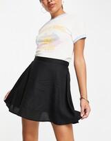 Thumbnail for your product : Monki Malina mini skater skirt in black