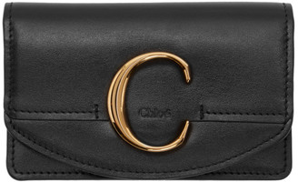 Chloé Black C Card Holder
