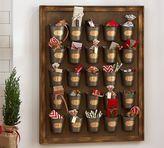 Pottery Barn Gilt Galvanized Advent Calendar