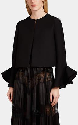 Valentino Women's Ruffle Wool-Silk Crepe Jacket - Black
