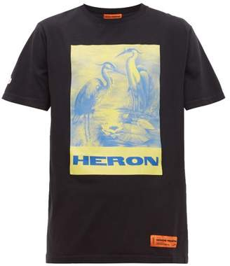 Heron Preston Heron-print Cotton T-shirt - Mens - Black Multi