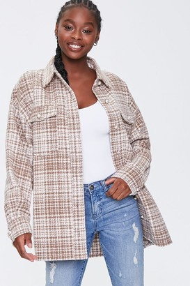 Forever 21 Faux Pearl Tweed Shacket