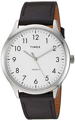 Timex Men's Modern Easy Reader 40mm Analog Quartz Leather Strap