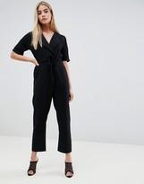Asos Design DESIGN wrap jumpsuit with self belt