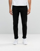 Antioch Solid Black Jeans in Super Skinny Spray on Fit