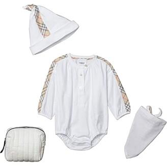 BURBERRY KIDS Berta New Set (Infant) (White) Kid's Active Sets