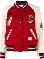 Coach varsity bomber jacket - women - Goat Skin/Polyamide/Polyester/Wool - 2