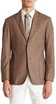Zanetti Brown Fleck Two Button Notch Lapel Sport Coat