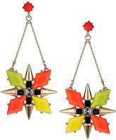 Topshop Stone Flower Drop Earrings