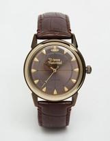 Vivienne Westwood Grosvenor II Leather Watch VV064GDBR