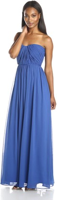 Minuet Women's Strapless Pleated Gown