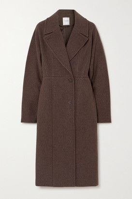 LE 17 SEPTEMBRE Line Wool-blend Coat - Brown