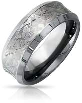 Bling Jewelry Celtic Dragon Unisex Tungsten Wedding Ring 8mm