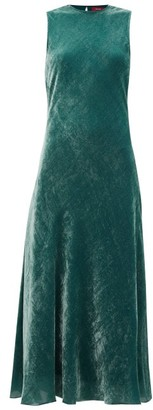 Sies Marjan Viv Bias-cut Corduroy-velvet Dress - Green