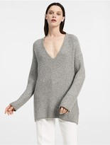 Calvin Klein Chunky Light Cashmere V Neck Sweater