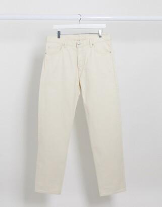 Weekday Barrel loose fit jean in cream