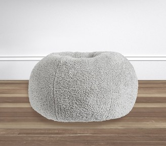 Pottery Barn Kids Gray Cozy Sherpa Anywhere Beanbag Slipcover Only