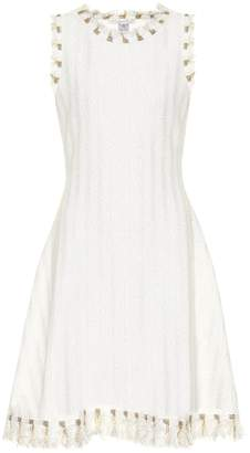 Oscar de la Renta Cotton and wool-blend tweed dress