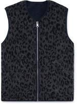 Ymc Reversible Leopard-Print Fleece Gilet