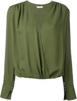 Altuzarra longsleeve V-neck blouse - women - Silk/Acetate/Nylon/Spandex/Elastane - 36