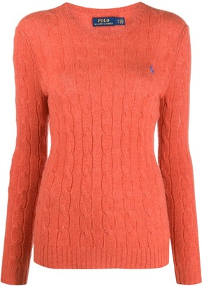 Polo Ralph Lauren Embroidered-Logo Cable Knit Jumper