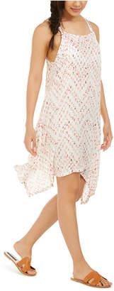 J Valdi Sleeveless Printed Cover-Up Dress Women Swimsuit