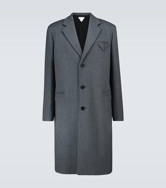 Bottega Veneta Single-breasted wool coat