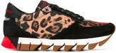 Dolce & Gabbana leopard print sneakers - women - Leather/Polyester/rubber - 37.5