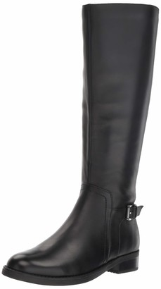 Blondo Women's Evie Fashion Boot Black Leather 8.5 W US