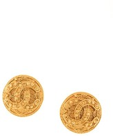 Chanel Pre Owned CC button earrings