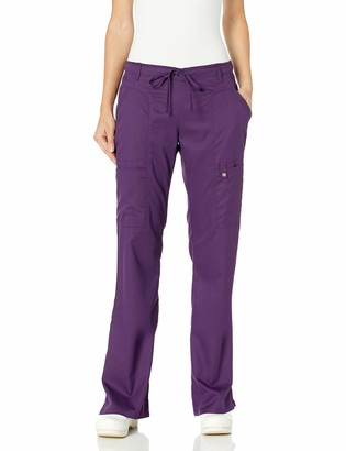 Cherokee Women's Petite Jr. Fit Low-Rise Drawstring Cargo Pant