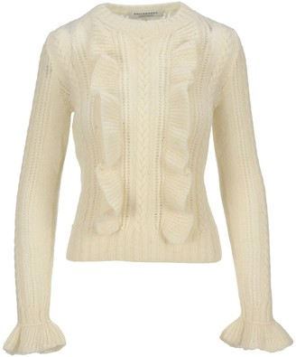 Philosophy di Lorenzo Serafini Ruffled Cable Knit Sweater