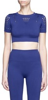 Ivy Park Keyhole cutout performance cropped top