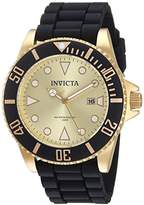 Invicta Women's 'Pro Diver' Quartz Stainless Steel and Silicone Casual Watch, Color:Black (Model: 90302)