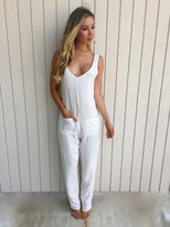 Tysa Sheperdess Playsuit in Off White