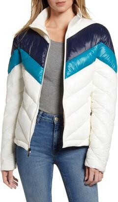 Andrew Marc Chevron Puffer Jacket