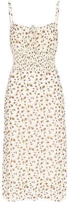 Reformation Genie floral-print midi dress