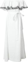 Lisa Marie Fernandez Off-Shoulder Belted Dress