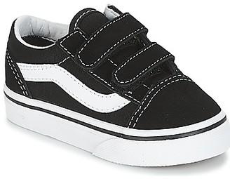 Vans OLD SKOOL V girls's Shoes (Trainers) in Black