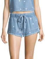 Bella Dahl Polkadot Frayed Hem Shorts
