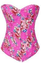 Alivila.Y Fashion Corset Alivila.Y Fashion Sexy Vintage Floral Denim Corset 2767-Blue-M-FBA